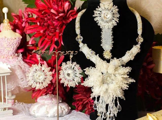 Анонс новых МК. Свадебный комплект «Хризантема»