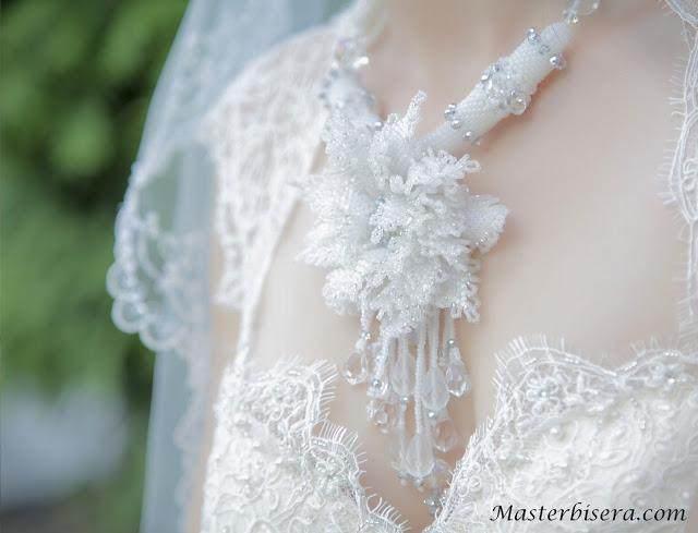 Квадратный жгут: свадебный комплект «Хризантема»