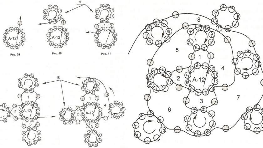 схема ажурного плетения