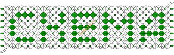 Схема для станочного плетения
